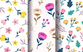 Picture background, texture, Leaves, floral pattern