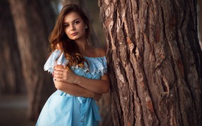 Picture look, Girl, dress, shoulders, Vasily Malykhin, Madina