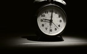 Picture Old, Time, Monochrome, Clock, Alarm