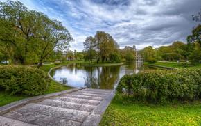 Picture the sky, Park, ladder, Prad, Saint Petersburg