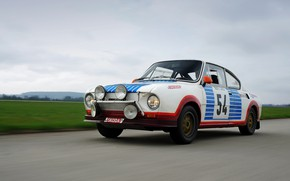 Picture asphalt, lawn, coupe, rally, Skoda, Skoda, 130 RS
