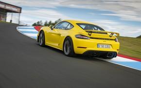 Picture Porsche, Cayman, Track, GT4, Wing, 2019, Porsche 718 (982) Cayman GT4