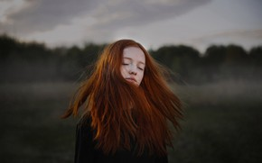 Picture girl, freckles, red hair, Darya Bilyk, Maria Lisitsyna