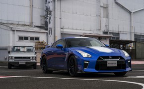 Picture blue, coupe, Nissan, GT-R, Skyline, R35, 50th Anniversary Edition, KPGC10, 2020, 2019