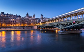 Picture river, France, Paris, Hay, мост Бир Хакейм