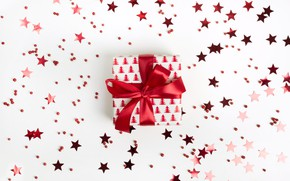 Picture gift, new year, tape, stars