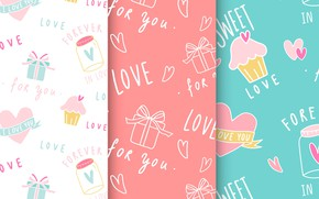 Picture background, vector, texture, gifts, background, seamless