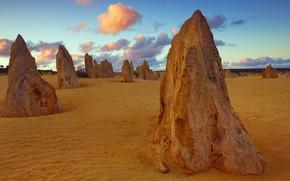 Picture stones, Australia, National Park Nambung, Pinnacles