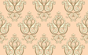 Picture retro, pattern, ornament, texture, vintage, pattern, seamless, damask