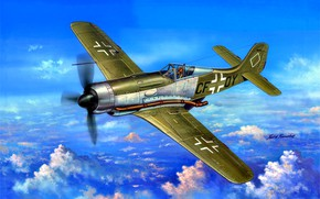 Picture Fw-190, experienced, High-altitude fighter, Focke-Wulf FW 190 Würger, Fw-190V18, Fw.190C