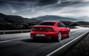 Wallpaper Peugeot, sedan, rear view, 2018, 508 GT