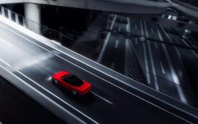 Picture Red, Auto, The game, Machine, Style, Red, Honda, Car, Night, Sports car, Sportcar, Honda NSX, …