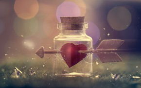 Picture heart, Bank, arrow
