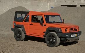 Picture sand, orange, SUV, 2011, 4x4, Travec, Tecdrah Integrale 1.5 TTi, Renault/Dacia Duster, frame