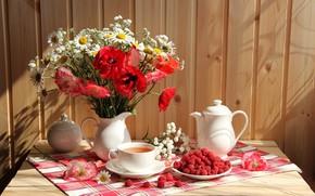 Picture summer, bouquet, cottage, lifes