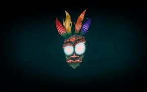 Picture Minimalism, Background, Crash, Mask, Art, Crash Bandicoot, I I, Aku Aku, Bandicoot, by Alex Gale, …