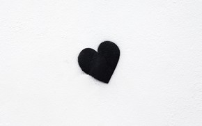 Picture background, black, heart, minimalism, black, minimalism, heart, background