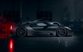 Picture Ford, garage, supercar, Ford GT, 2020, Liquid Carbon