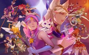 Picture Lux, Janna, Ahri, Soraka, Syndra, League Of Legends, Miss Fortune, Lulu, Jinx, Poppy, Ezreal, Star …