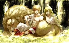 Picture Leo, anime, art, two, Gilgamesh, fate/grand order, The destiny of a great campaign