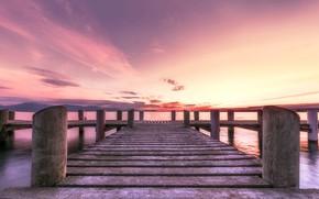 Picture the sky, sunset, bridge