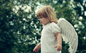 Picture wings, angel, baby