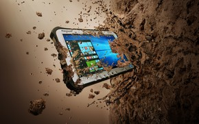 Picture tablets, Panasonic, Panasonic Toughpad FZ-G1, protected tablet, Toughpad, users who work in challenging environments, Panasonic