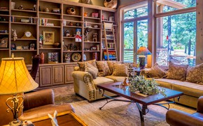 Picture room, furniture, lamp, pillow, window, chairs, table, sofas, wall, living room