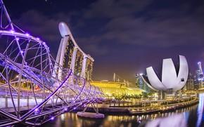 Picture night, bridge, Singapore