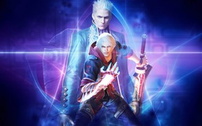 Picture hand, the demon, demon, sword, game, DMC, Nero, Nero, Devil May Cry, Virgil, Virgil, father …