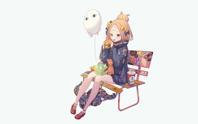 Picture girl, bench, ball, Fate / Grand Order, The destiny of a great campaign