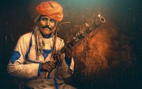 Wallpaper Musician, India, traditional instrument