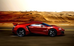Picture Red, Auto, Machine, Supercar, Rendering, Concept Art, Sports car, Side view, Lykan, Game Art, Transport …