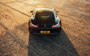 Picture Mercedes-Benz, rear view, AMG, 2018, GT C