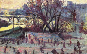 Picture picture, the urban landscape, Maximilien Luce, Maximilien Luce, Hay. The view from the Studio of …