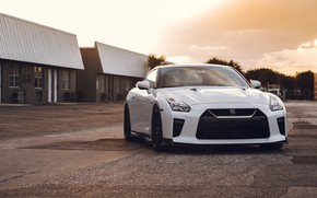Picture GTR, Nissan, White, Evening, R35, Sight
