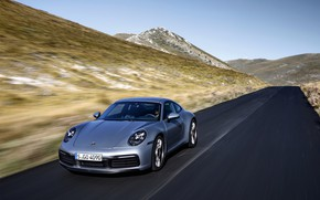 Picture asphalt, movement, coupe, 911, Porsche, Carrera 4S, 992, 2019