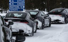 Picture winter, 911, Porsche, Finland, tests, 992, prototypes