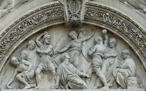 Picture France, architecture, Stoning St.Stephen, Saint-Etienne-du-Mont, the bottom