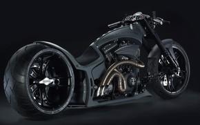Picture Chopper, Black, Hardcore, Custom, Motorcycle