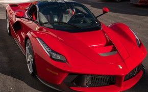 Picture Red, Supercar, The front, LaFerrari, 2015