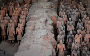 Picture army, China, clay, terracotta army