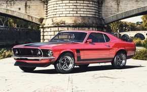 Picture Mustang, Ford, Auto, Machine, Car, Rendering, Retro, Muscle Car, Ford Mustang Boss, Transport & Vehicles, …