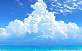 Picture sea, summer, the sky