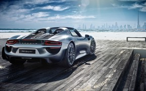 Picture rendering, Porsche, supercar, Dubai, Spyder, 918