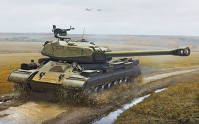 Picture USSR, Tank, Technique, Is-4, IS-4M, Igor Solovyev, By Igor Solovyev, Js 4M havy tank USSR