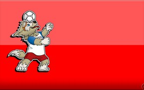Picture The ball, Sport, Football, Background, Wolf, Russia, 2018, FIFA, FIFA, World Cup 2018, Mascot, Zabijaka, …