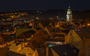Picture the, houses, Germany, home, architecture, roof, the city, lights, Saxony, night, building, Maysen, Meissen, darkness
