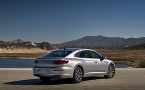Picture Volkswagen, back, liftback, Arteon, 2019, gray-silver, Arteon SE