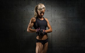 Picture muscles, blonde, shadows, fitness, Matt marsh